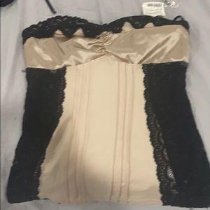 Brand new bebe silk shirt